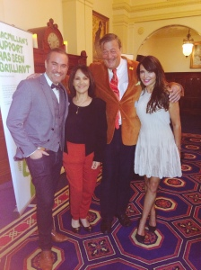 AP Stephen Fry Nick Ede, Lizzie Cundy